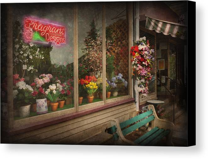Hdr Canvas Print featuring the photograph Store - Belvidere Nj - Fragrant Designs by Mike Savad