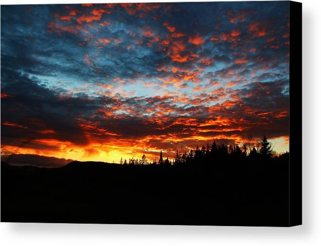 Landscape Canvas Print featuring the photograph Stormy Skys 2 by Corinne Boomhower
