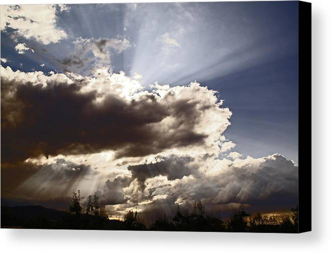 Sunlight Canvas Print featuring the photograph Sunlight And Stormy Skies by Mick Anderson