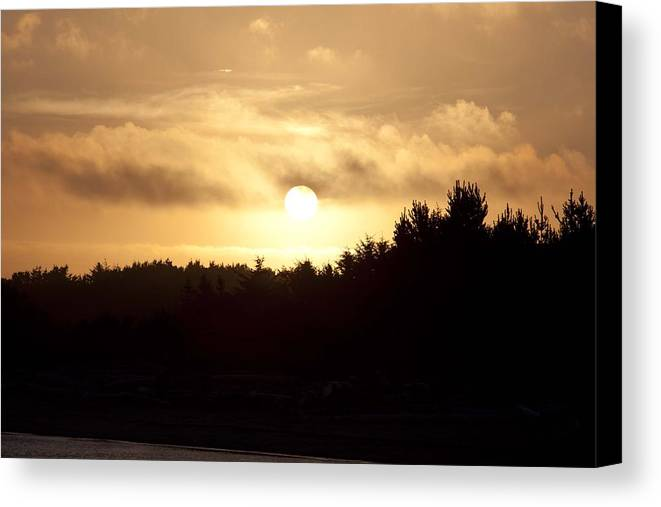 Sunrise Canvas Print featuring the photograph Sunrise - Sunset - 0045 by S and S Photo