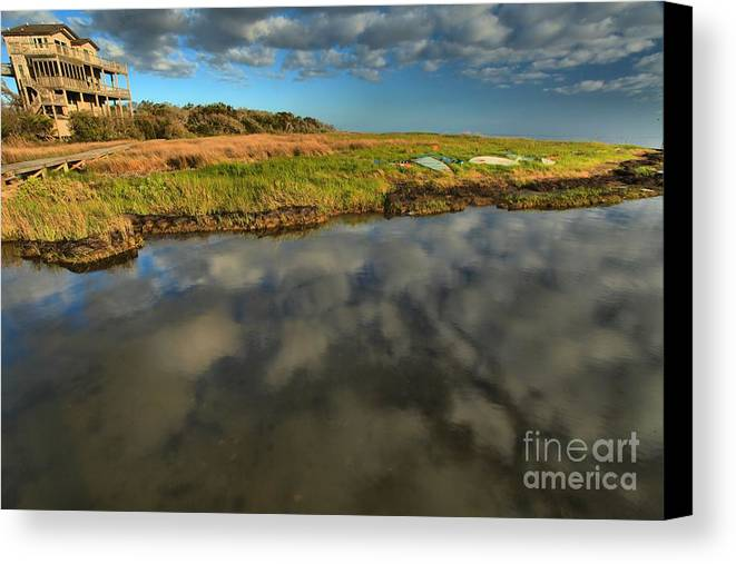 North Carolina Outer Banks Canvas Print featuring the photograph Sunrise At Brooks Island Refuge by Adam Jewell