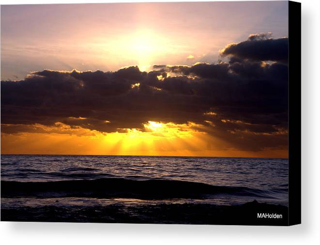 Obx Canvas Print featuring the photograph Sunrise Obx by Mark Holden