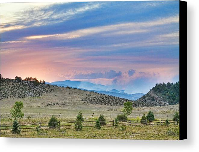 high Park Wildfire; Colorado; Co; Fire; Colorful; ft Collins; fort Collins; decorative Canvas Prints; fine Art; Nature; Landscape; photography Prints; canvas Art; acrylic Prints; stock Images; james Bo Insogna; larimer County; High; Park Canvas Print featuring the photograph Sunset At The Colorado High Park Wildfire by James BO Insogna