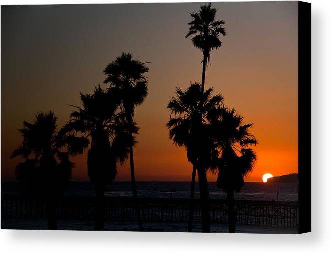San Clemente Canvas Print featuring the photograph sunset in Califiornia by Ralf Kaiser