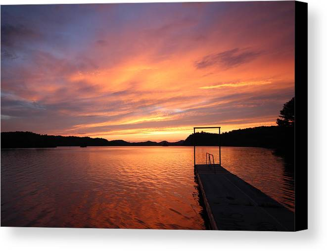 Chilhowee Lake Canvas Print featuring the photograph Sunset On Chilhowee by Christopher Ewing