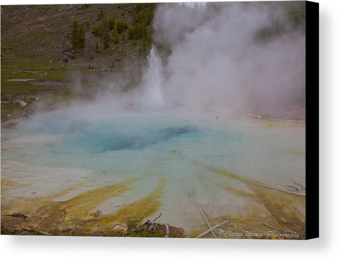 Yellowstone Canvas Print featuring the photograph Superior Geyser 1 by Charles Warren