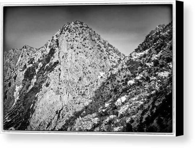 Nature Canvas Print featuring the photograph Taos Mountain 3 by Lisa Spencer
