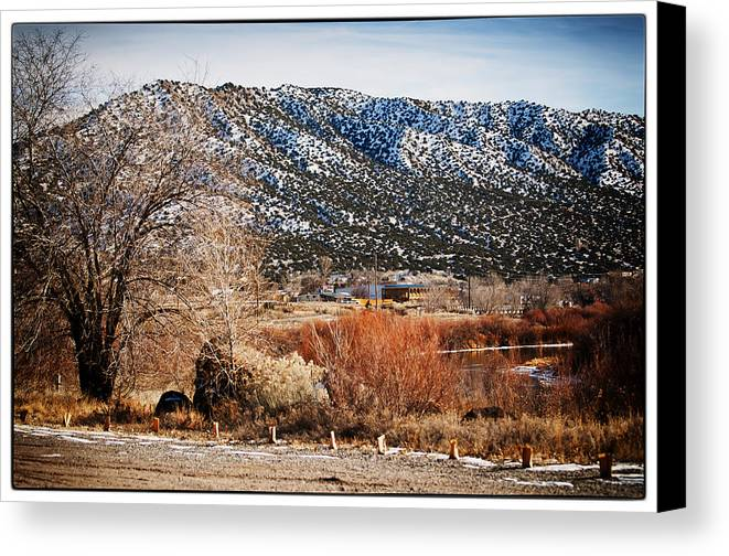 Taos Canvas Print featuring the photograph Taos Mountain View 1 by Lisa Spencer