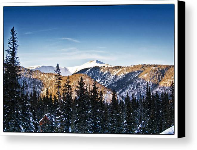 Landscape Canvas Print featuring the photograph Taos Mountains Sunset by Lisa Spencer
