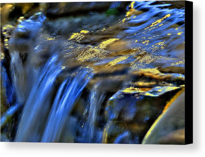 Waterfall Canvas Print featuring the photograph Taylor Waterfall by David Clark