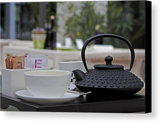 Chair Canvas Print featuring the photograph Tea Time by Joana Kruse