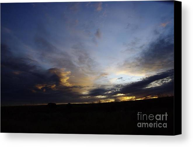 Autumn Canvas Print featuring the photograph The Autumn Sky by Jeff Swan