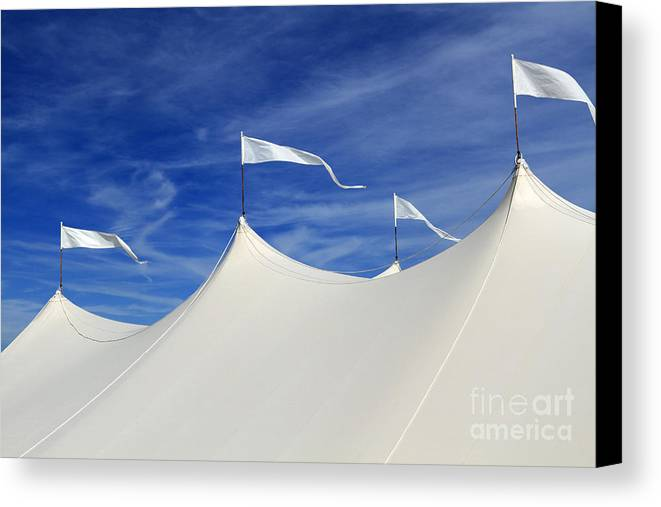Tent Canvas Print featuring the photograph The Big Event by John Van Decker