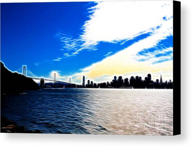 San Francisco Canvas Print featuring the photograph The City By The Bay by Wingsdomain Art and Photography