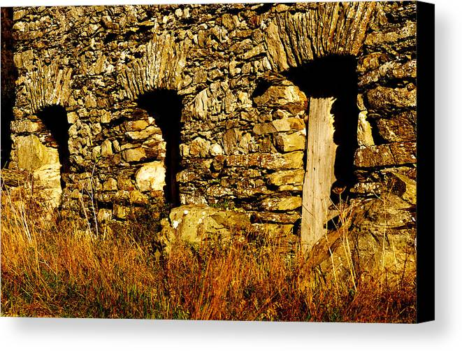 Canvas Print featuring the photograph The Farm Doors by Peter Jenkins