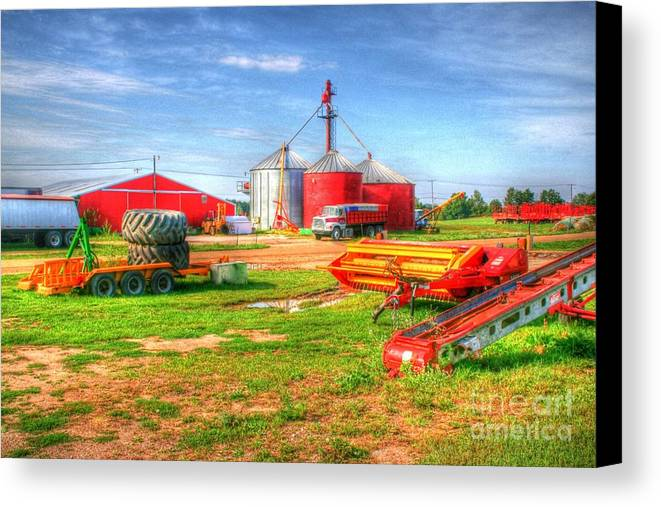 Farm Canvas Print featuring the photograph The Farm by Tiffani Vanhunnik