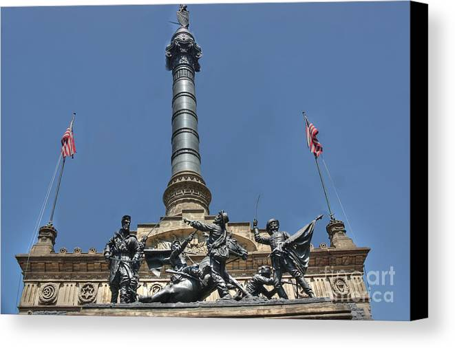 Soldiers And Sailors Monument Canvas Print featuring the photograph The Infantry by David Bearden