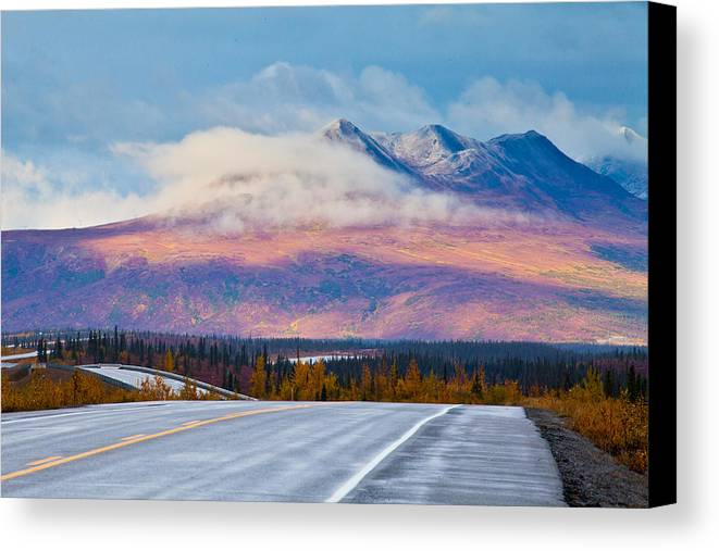 Alaska Canvas Print featuring the photograph The Journey by Chris Heitstuman