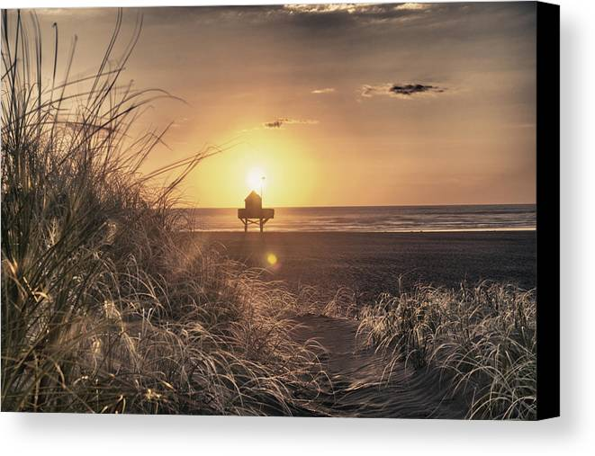 Landscape Canvas Print featuring the photograph The Last Watch by Jeremy Bartlett