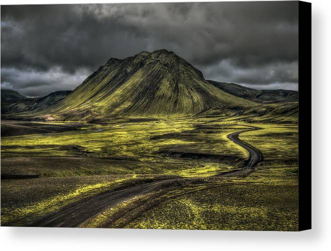 Mountain Canvas Print featuring the photograph The Mountain Pass by Evelina Kremsdorf