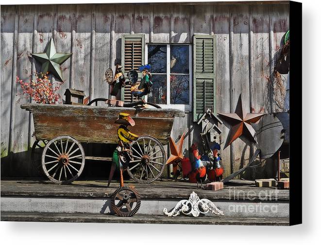 The Old Shed Canvas Print featuring the photograph The Old Shed by Mary Machare