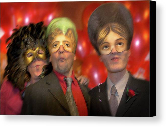 Mask Canvas Print featuring the photograph The Three Masketeers by Richard Piper