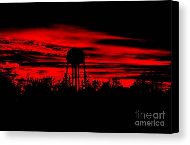 Sunset Canvas Print featuring the photograph The Tower by Tamera James