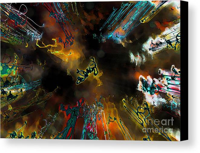 Abstract Canvas Print featuring the photograph Time Flies by Jeff Breiman