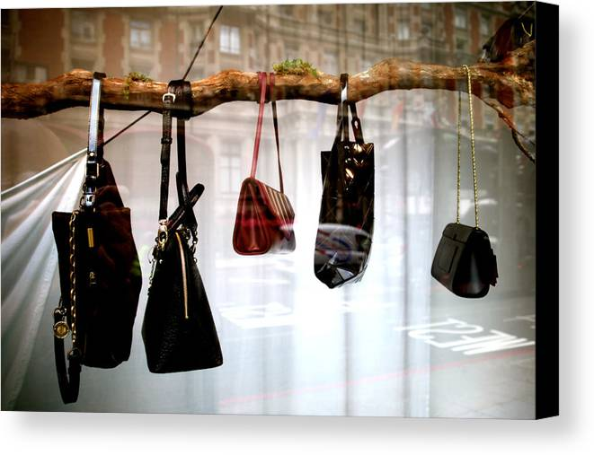 Jezcself Canvas Print featuring the photograph Tree Of Bags by Jez C Self
