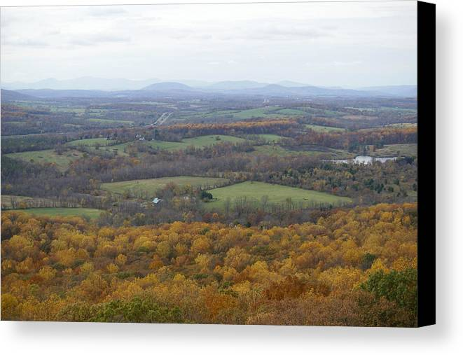Outlook Canvas Print featuring the photograph Valley by Heidi Poulin