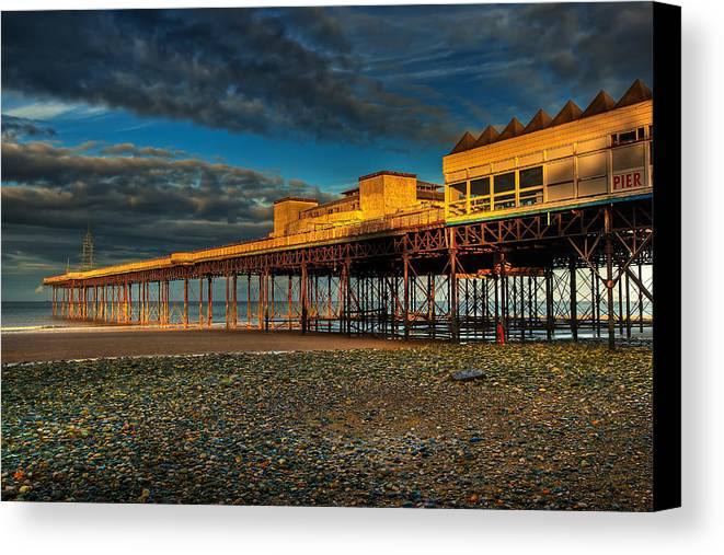 Beach Canvas Print featuring the photograph Victorian Pier by Adrian Evans