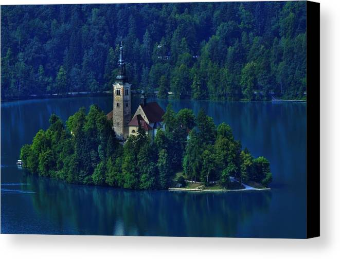 Lake Bled Canvas Print featuring the photograph View From Castle by Don Wolf
