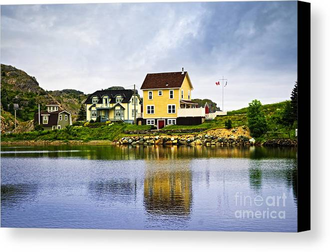 Fishing Canvas Print featuring the photograph Village In Newfoundland by Elena Elisseeva