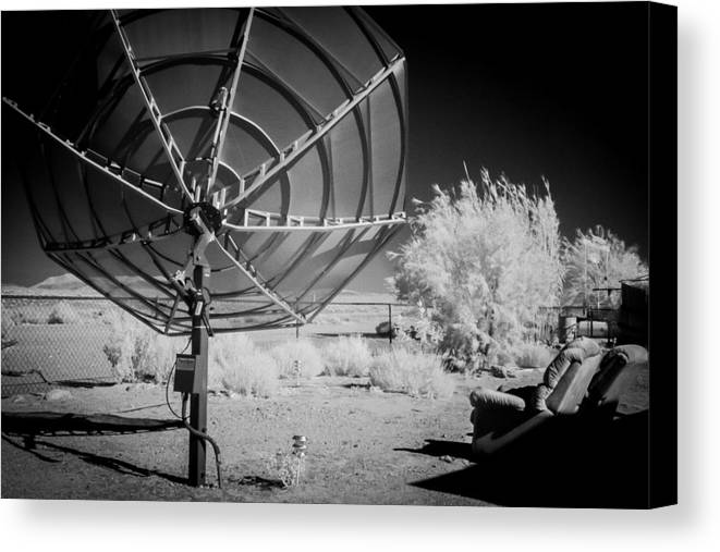 Black Canvas Print featuring the photograph Waiting For Contact 2 by Nancy Good
