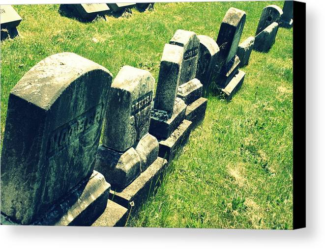 Grave Stones Canvas Print featuring the photograph Washed Out by Donna Gibson