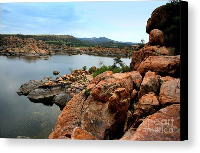 Prescott Canvas Print featuring the photograph Watson Lake by Julie Lueders