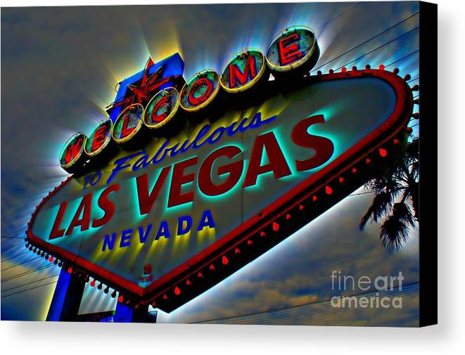 Las Vegas Canvas Print featuring the photograph Welcome To Las Vegas by Kevin Moore