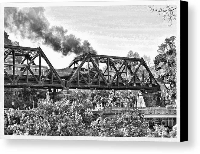 Western Maryland Railroad Canvas Print featuring the photograph Western Maryland Railroad by Jack Schultz