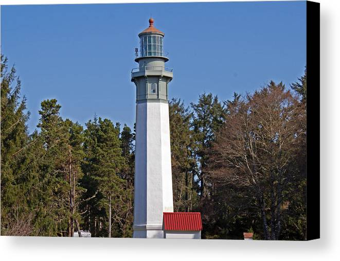 Lighthouse Canvas Print featuring the photograph Westport Lighthouse by Jake Johnson
