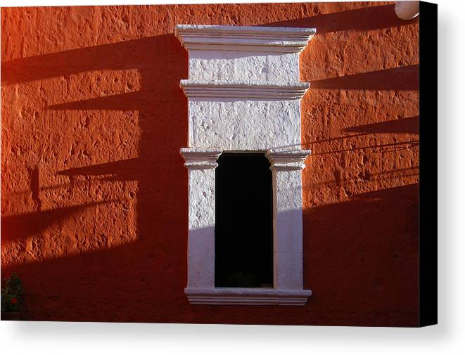 Monastery Canvas Print featuring the photograph White Window by RicardMN Photography