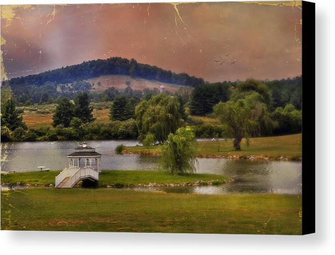 Willow Lake Canvas Print featuring the photograph Willow Lake Series II by Kathy Jennings