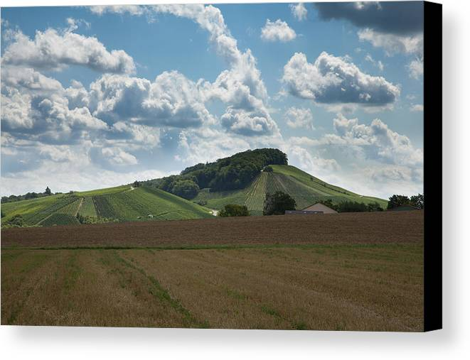 Wine Canvas Print featuring the photograph Wine Hills Of Germany by Ian Middleton