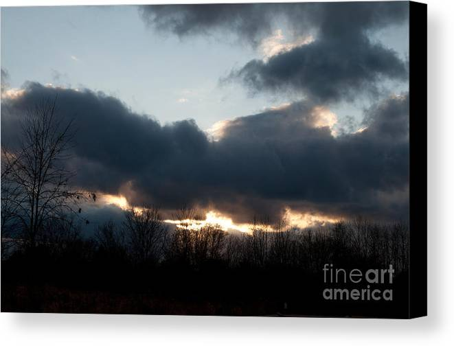 Sky Canvas Print featuring the photograph Winter Afternoon Clouds by Gary Chapple