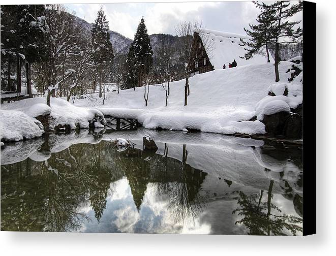 Snow Canvas Print featuring the photograph Winter by Kean Poh Chua