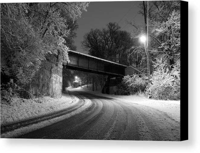 Appleton Canvas Print featuring the photograph Winter's Beauty by Joel Witmeyer