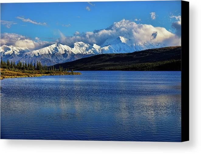 Denali Canvas Print featuring the photograph Wonder Lake by Rick Berk