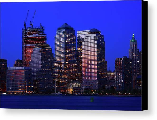 Manhattan Canvas Print featuring the photograph World Financial Center New York by Rick Berk