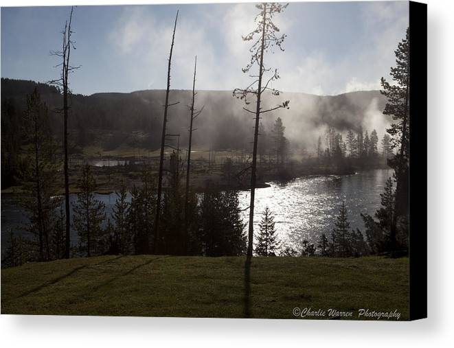 Yellowstone Canvas Print featuring the photograph Yellowstone Morning by Charles Warren