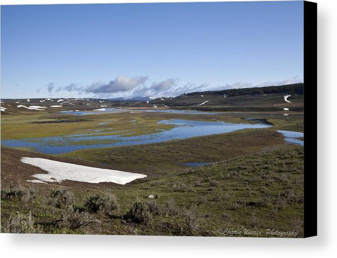 Yellowstone Canvas Print featuring the photograph Yellowstone Plateau by Charles Warren