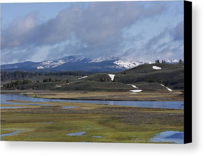 Yellowstone Canvas Print featuring the photograph Yellowstone Vista 10 by Charles Warren